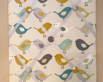 Fabric Memo Board - Bird Fabric