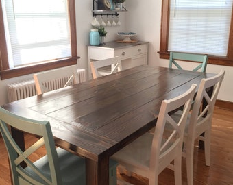 Farmhouse Dining Table with breadboard ends