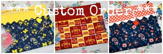 Custom Collegiate Cross Stitch, Sewing, Embroidery Project Bag
