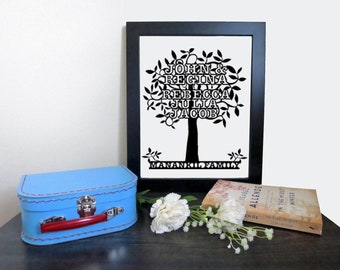 Personalized Family Tree Cut out