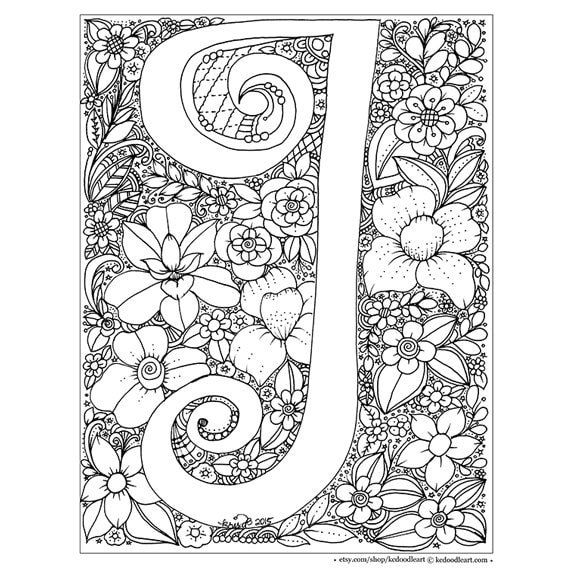 Alphabet Capital Letters Coloring Page