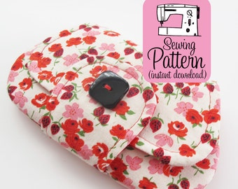 Pocket Clutch PDF Sewing Pattern | Intermediate sewing project tutorial to make a small two pocket envelope style pouch.