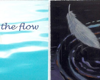 Go With The Flow mini affirmation cards