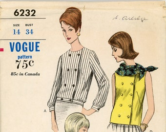 Original Vintage Vogue Sewing Pattern - 6232 ca.1964 - UNCUT - FACTORY FOLDED