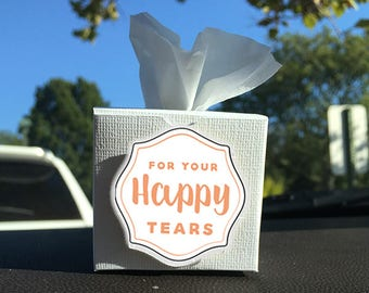 Happy Tears Box - Mini tissue box - wedding souvenirs - wedding party favors - wedding giveaways - mini happy tears tissue box