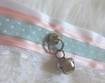 Pastel Pink and Blue Collar