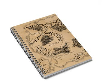 Ilyon Chronicles Map Notebook  Ruled Line