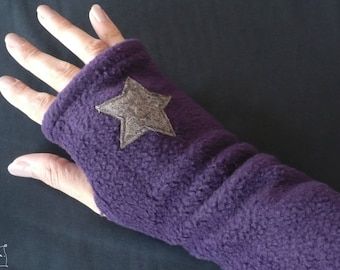 Polar mitts purple / gray