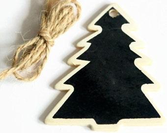 2 x Tree Blackboard Tags - 63 x 59 cms - 2pcs 5pcs or 10pcs Christmas Tags - Gift Tags - Chalkboard Favours - Tree Shaped Tag - OC107