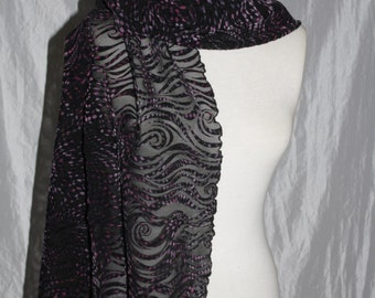 Stole scarf-shawl-illusion-lace scarf-tulle