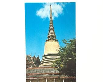 Vintage Bangkok Postcard / Thailand Postcard / Vintage Souvenir / 1960s Memorabilia