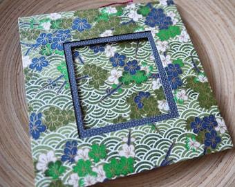 cadre photo en papier japonais vert