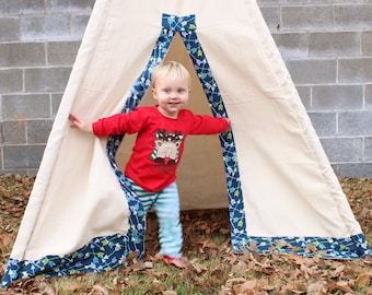 Blue Boy Made to Order Teepee, Tipi--Many Fabrics and Colors available
