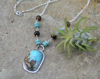 Royston Turquoise Pendant Necklace - sterling silver