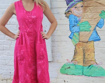 Vintage Pink Midi/ Maxi Dress