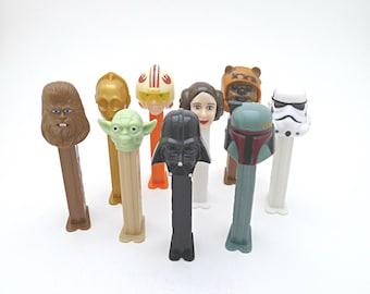 Personalized Star Wars Miniature Toy Fathers Day Gift Vintage PEZ Dispenser & Candy, Boba Fett, Princess Leia, Ewok, Yoda, Darth Vader, C-3P