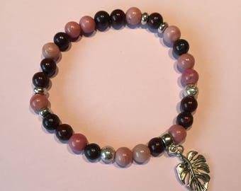 stones of Jasper and rhodonite bracelet