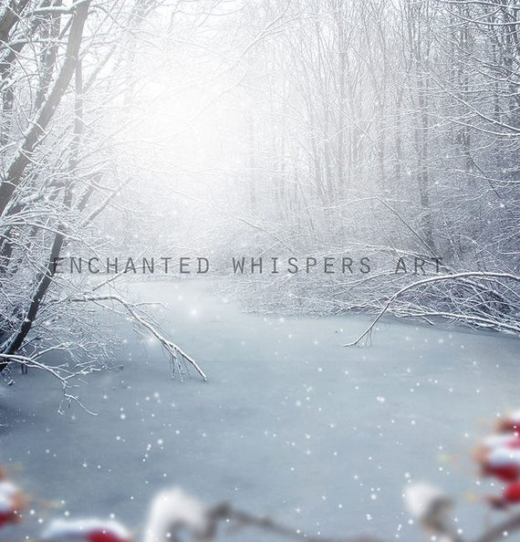 instant download winter snow background for Photoshop