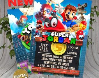 Super Mario Odyssey Invitation, Super Mario birthday, Super Mario birthday invitation, Super Mario invitations, Mario Printable, Odyssey