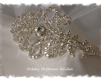 Wedding Headband, Rhinestone Bridal Headband, Crystal Wedding Headpiece, Bridal Headband, Jeweled Wedding Headband, Head Piece, No. 2071HB