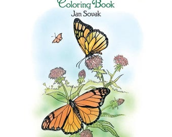 Butterflies Adult Coloring Book-Dover Publications- FREE SHIPPING! - Great Gift