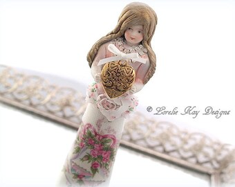 Happy Anniversary Art Doll  Anniversary Gift Assemblage Art Doll Lorelie Kay Original