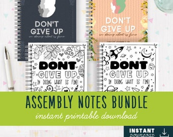 3 NOTEBOOK BUNDLE [DIGITAL] Dont Give Up in Doing What is Fine! Jw Assembly Notebook   Jw Assembly