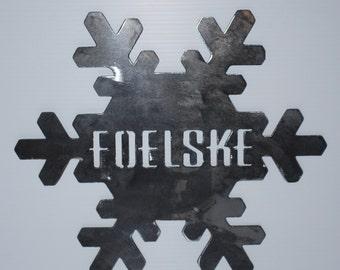 Customized Metal Snowflake