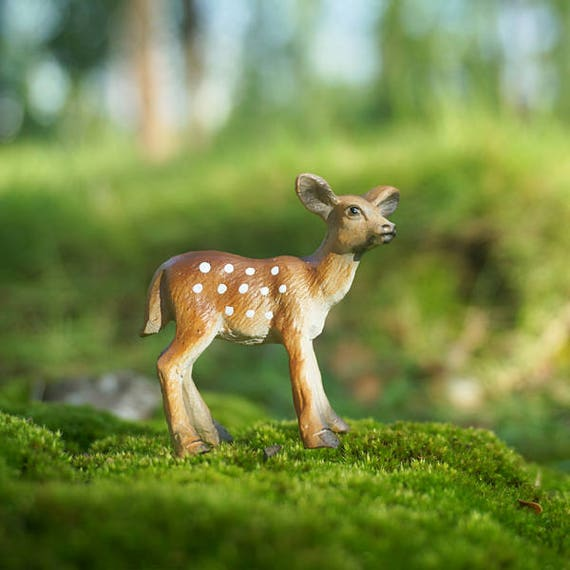 1pcs Fairy Garden Miniature Tiny Sika Deer Mini Garden Accessories