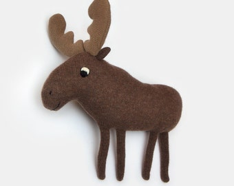 Marvin the Moose Lambswool Plush Toy - Made to order
