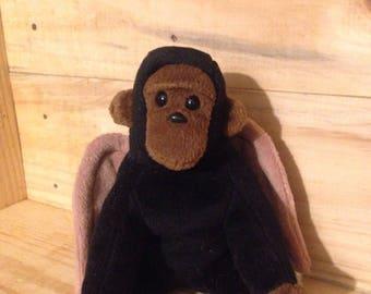 Frankie the Flying Monkey, a winged monkey plush