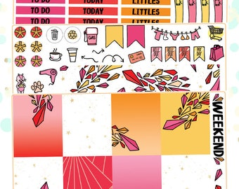 Crystals Planner Sticker Kit for Erin Condren Vertical Life Planner