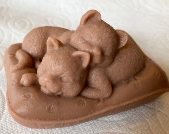 Cozy Kitties Soap Bar - Organic Goat Milk Handmade