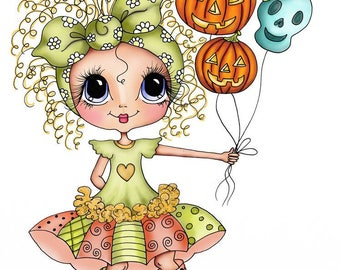 INSTANT DOWNLOAD Digital Digi Stamps Big Eye Big Head Dolls Bestie New Bestie Fall Party  img619 My Besties By Sherri Baldy