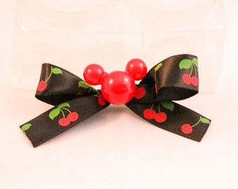 Mickey/Disney Pin/Brooch - with cherries - Handmade unique
