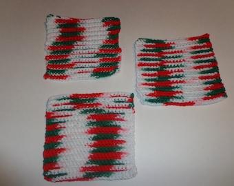 Set of Christmas Crochet Washcloth