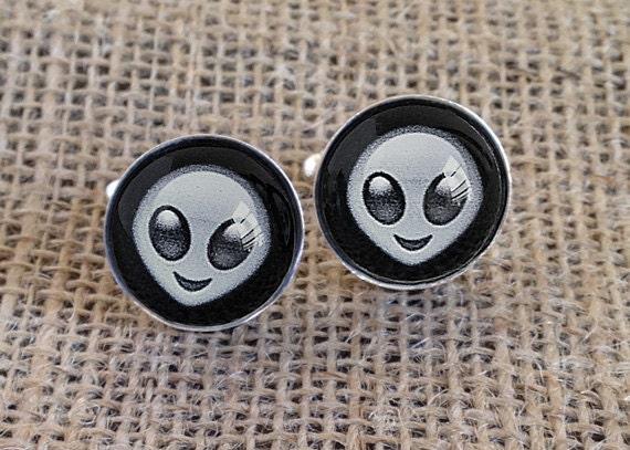 Alien Emoji Cufflinks