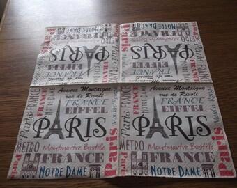 Paris with eiffel tower paper towel