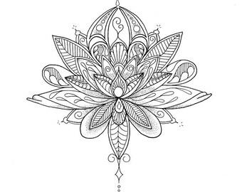 Colouring Sheet - Lotus Mandala