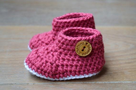 Häkeln Baby Booties rosa Baby-Schuhe rosa Baby Booties