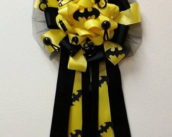 Batman Baby Shower Corsage