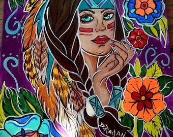 Indian Girl Original Painting