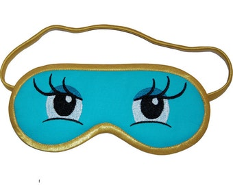 Holly Golightly Sleep Mask, Breakfast at Tiffany sleeping eye mask, Audrey Hepburn eyemask, Blindfold costume, Cosmopolitan Vogue sleepmask