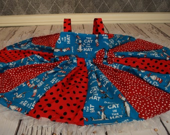 custom boutique twirl dress made with Dr. Suess fabric 2-6