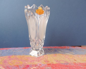 Lead Crystal Hand Cut Vase from West Germany Vintage