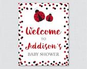 Ladybug Baby Shower Welco...