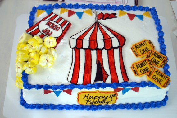 Carnival Sheet Cake Decorating Kit 100 Edible