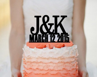 Personalized Custom Wedding Initials Cake Topper Monogram cake topper Personalized Cake topper Acrylic Cake Topper