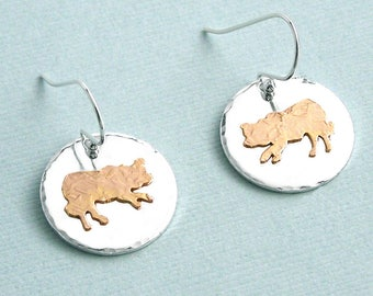 Border Collie Earrings - Sterling Silver and Gold Filled - Dog Breed Earrings