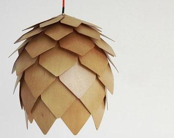 Wood Floral Ceiling Lamp - pendant lamp - ceiling lamp - wood lamp - modern home decor